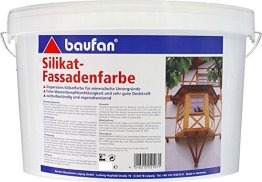Baufan Silikatfassadenfarbe 10 Liter weiss innen und aussen - 1